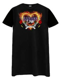 Azuka Jurk Azuka SAVAGE LOVE T-SHIRT DRESS Jurk black
