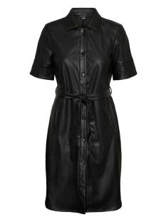 Vero Moda VMGWEN SS PU SHIRT DRESS Jurk black 10234410