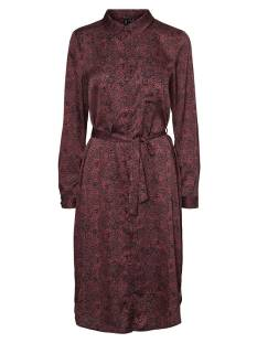 Vero Moda VMBILLI L/S BELT SHIRT DRESS Jurk burnt russet 10245320