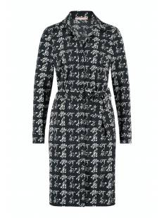 Studio Anneloes Jurk Studio Anneloes Felicity knit look dress 05224 Jurk 9014 black/ivory
