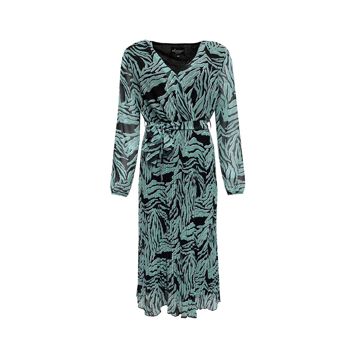 Elvira E1 21-015 DRESS FIEN PLISSE Groen