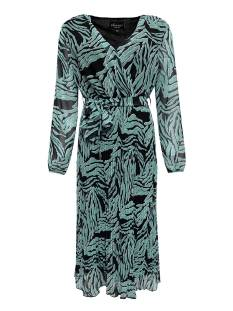 Elvira E1 21-015 DRESS FIEN PLISSE Jurk 793 zebra light green