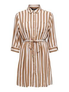 Only Jurk Only ONLTAMARI 3/4 SHIRT DRESS WVN NO Jurk cloud dancer beige 15185738