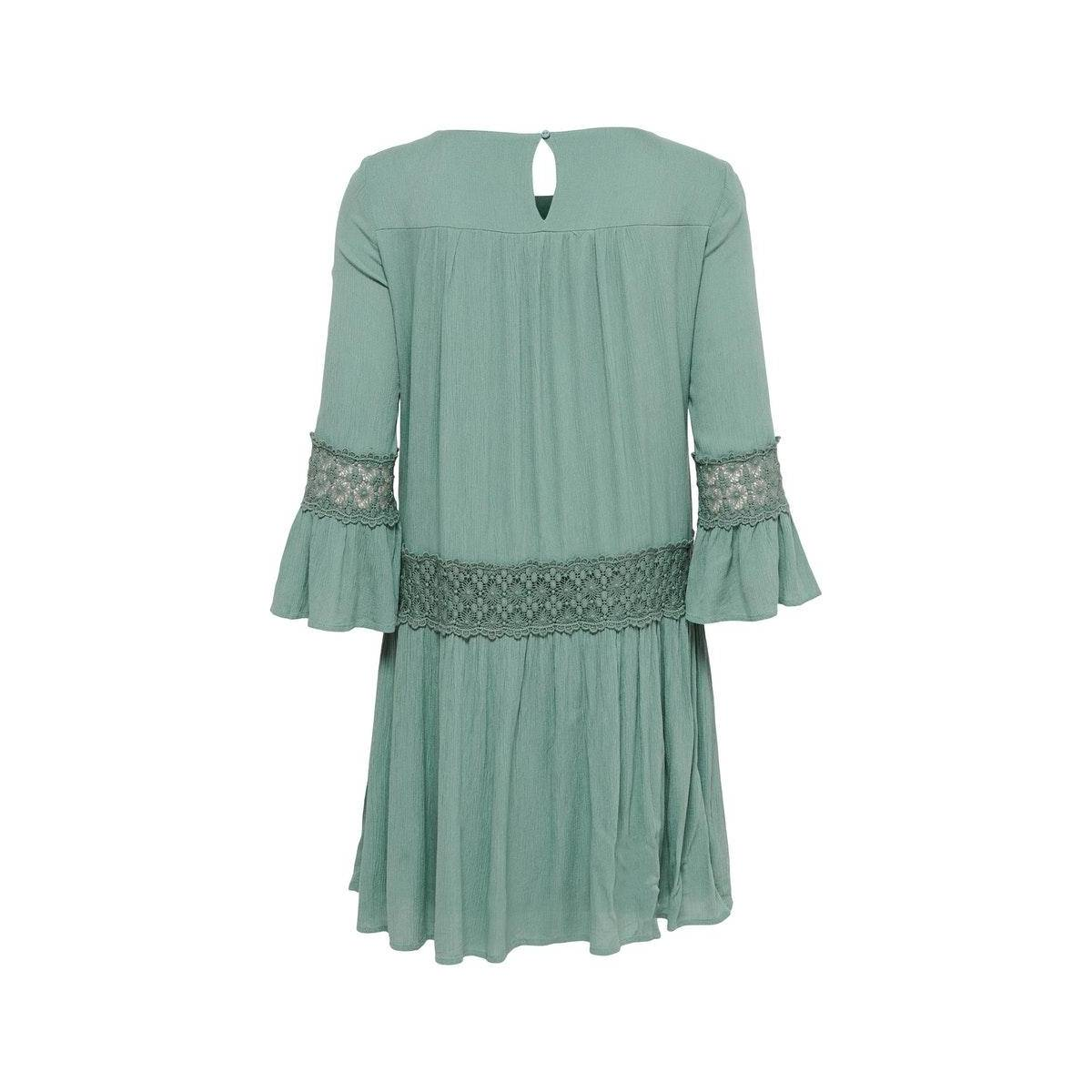 Only ONLTYRA 3/4 LIFE SHORT DRESS WVN Groen