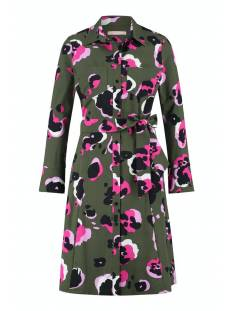 Studio Anneloes Jurk Studio Anneloes Indy midi arti animal dress Jurk 7458 jungle/fuchsia