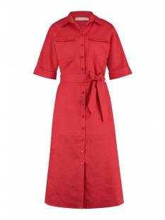 Studio Anneloes Jurk Studio Anneloes Marla linen dress 05794 Jurk 3000 red