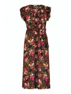 Studio Anneloes Jurk Studio Anneloes Saar crepe flower dress 05790 Jurk 9030 black/red