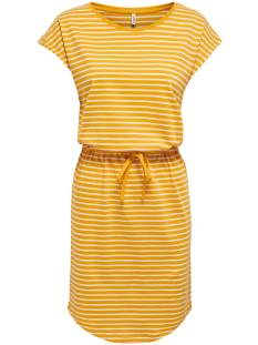 Only Jurk Only ONLMAY LIFE S/S DRESS Zomerjurkjes mango mojito stripes 15153021