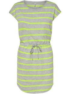 Only Jurk Only ONLMAY LIFE S/S DRESS Zomerjurkjes light grey stripes 15153021