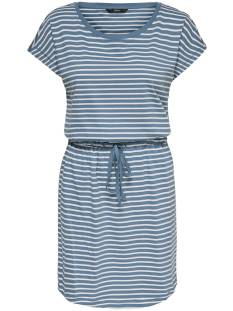 Only Jurk Only ONLMAY LIFE S/S DRESS Zomerjurkjes blue mirage stripes 15153021