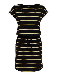 Only Jurk Only ONLMAY LIFE S/S DRESS NOOS Zomerjurkjes black double yellow 15153021