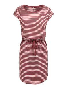 Only ONLMAY LIFE S/S DRESS NOOS Zomerjurkjes apple butter stripe 15153021