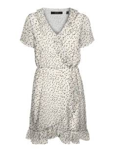 Vero Moda VMJOT SS SHORT DRESS WVN GA Zomerjurkjes birch gold dots 10253132