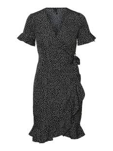 Vero Moda VMHENNA 2/4 WRAP FRILL DRESS NOO Zomerjurkjes black tiny dots 10252951