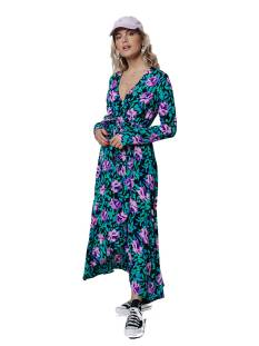 Colourful Rebel Jurk Colourful Rebel 10129 MAYA FLOWER MAXI WRAP DRES Lange Jurken multicolour