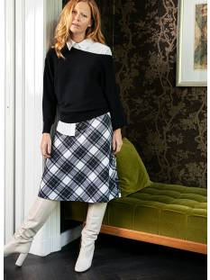 Studio Anneloes Nora plaid skirt 04916 Rokken 1490 ivory/black