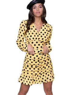Colourful Rebel Rokje Colourful Rebel 10073 LOES POLKADOT GATHERED Rokken yellow/black