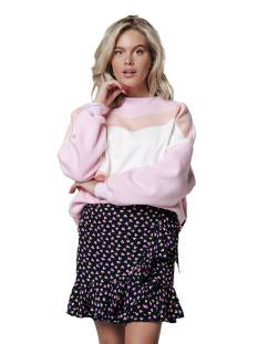 Colourful Rebel Rokje Colourful Rebel 10142 SHELBY HEARTS WRAP SKIRT Rokken black/pink