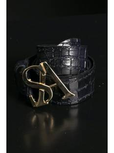 Studio Anneloes Accessoire Studio Anneloes Gold kroko leather belt 05208 Riemen 6900 dark blue