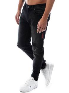 Black Bananas Jeans Black Bananas DON DAMAGED JEANS Slim Fit black