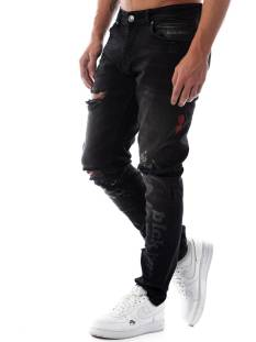 Black Bananas Jeans Black Bananas DON WAVY JEANS Slim Fit black