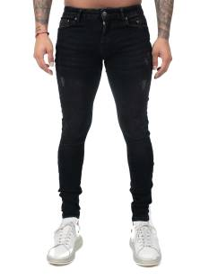 Malelions Jeans Malelions MM-SS21-1-11 ARI JEANS Slim Fit 914 black/neon red