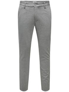 Only & Sons Broek Only & Sons ONSMARK PANT STRIPE GW 372 Broek light grey melange 22013727