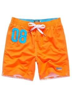 Superdry M30005POF1 PREMIUM WATER POLO Korte Broeken  havana orange vqh