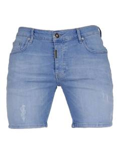 AB Lifestyle AB  SHORT DENIM THE PAINT Korte Broeken  sky blue