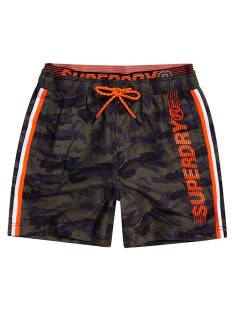 Superdry Broek Superdry M3010010A VOLLEY SWIM SHORT Korte Broeken  f28 camo