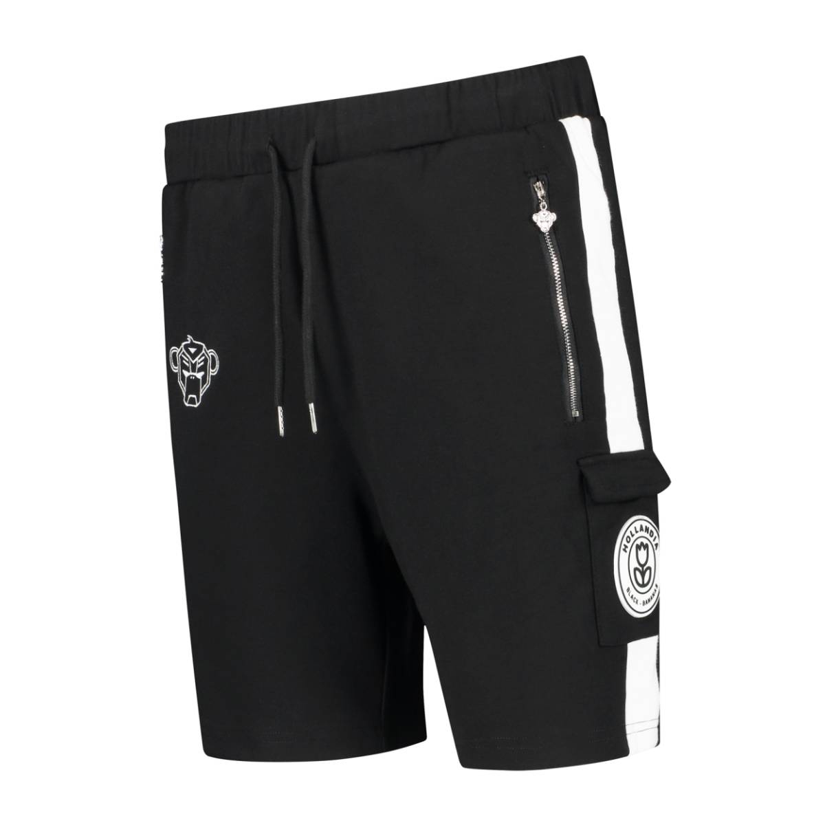 Black Bananas F.C. STRIPED SHORT Zwart