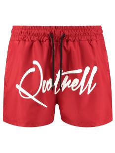 Quotrell Broek Quotrell QUOTRELL SIGNATURE SWIMSHORT Korte Broeken  red/white