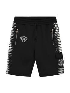 Black Bananas HEXAGON SHORT Korte Broeken  black/white