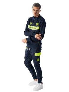 Black Bananas Broek Black Bananas ANORAK NEON TRACKSUIT Trainingspak navy/yellow