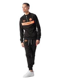 Black Bananas Broek Black Bananas ANORAK NEON TRACKSUIT Trainingspak black/orange