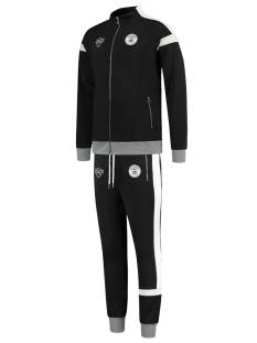 Black Bananas Broek Black Bananas CAPTAIN TRACKSUIT Trainingspak 36 black/grey/white