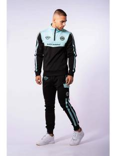 Black Bananas Broek Black Bananas SPRINT TRACKSUIT Trainingspak black/mint green