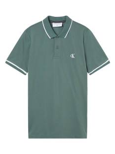 Calvin Klein Shirt Calvin Klein J30J315603 TIPPING SLIM POLO Heren T-Shirts en Polo's ldt duck green