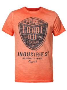 Petrol M-SS17-TSR690 Print T-Shirt 269 dark orange