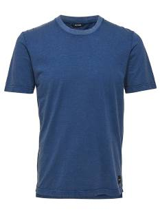 Only & Sons Shirt Only & Sons ONSALVIN SLUB ACID SLIM TEE Print T-Shirt blue nights 22008799