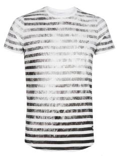 Pure White Shirt Pure White 18010101 STRIPED T-SHIRT Print T-Shirt 01 white
