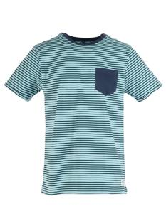 Refusion Shirt Refusion 209218M T-SHIRT R-NECK STRIPE Print T-Shirt aqua haze/navy