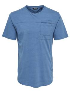 Only & Sons Shirt Only & Sons ONSFALLON POCKET SS TEE Print T-Shirt light blue denim 22010943