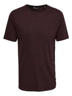 Only & Sons ONSPAULI STRIPES SS TEE Print T-Shirt fudge 22010930