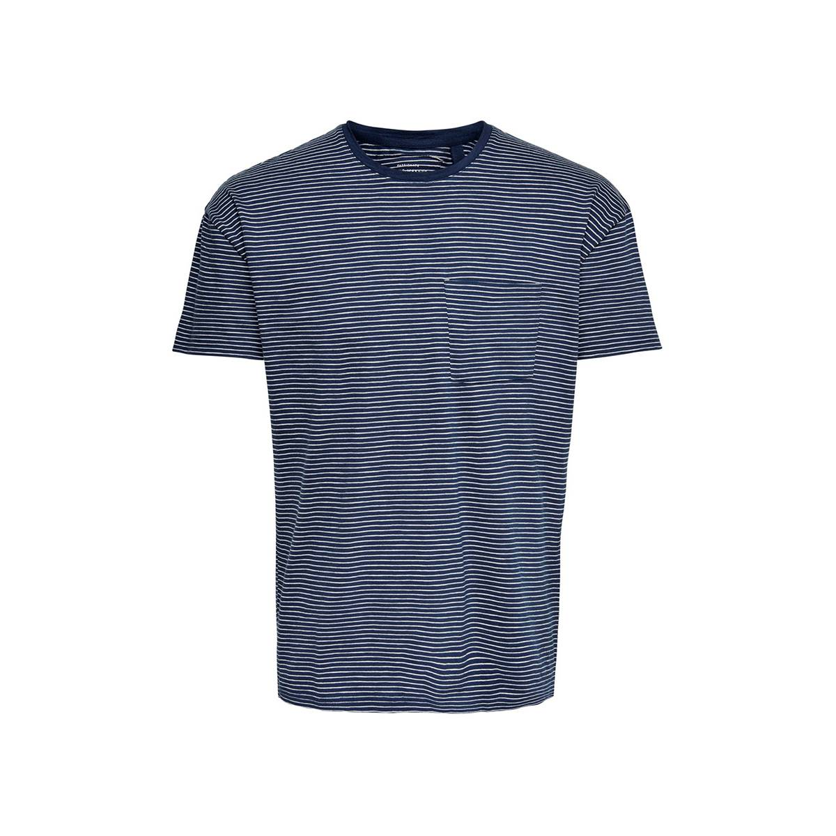 Only & Sons ONSPHIL DROP SHOULDER TEE EQ Blauw