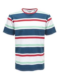 Only & Sons ONSLEX SS REG STRIPED TEE Print T-Shirt white red navy 22012625