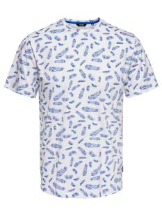 Only & Sons Shirt Only & Sons ONSBEAF SS AOP TEE Print T-Shirt white 22014029