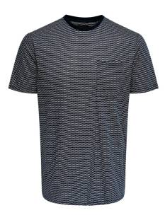 Only & Sons Shirt Only & Sons ONSADAN JACQUARD REG TEE Print T-Shirt dark navy 22014598