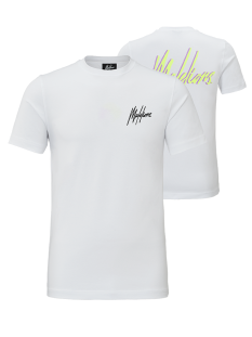 Malelions Shirt Malelions SIGNATURE 2.0 BACKPRINT Print T-Shirt white / neon yellow