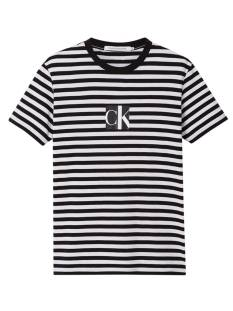 Calvin Klein Shirt Calvin Klein J30J316657 STRIPED CENTER CK BOX Print T-Shirt beh ck black